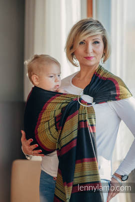Ringsling, Moulin Weave (100% cotton) - with gathered shoulder - MOULIN - ARDENT (grade B)