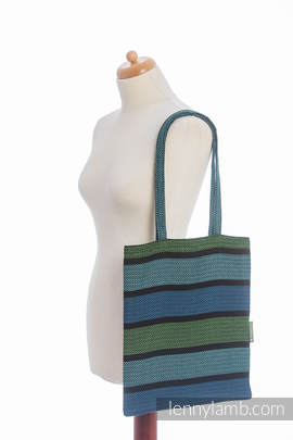 Shopping bag made of wrap fabric (100% cotton) - MOULIN - AQUARELLE