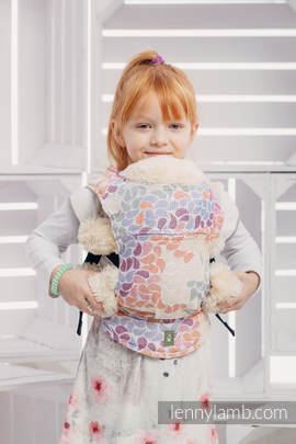 Doll Carrier made of woven fabri, 100% cotton  - COLORS OF LIFE