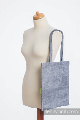 Shopping bag made of wrap fabric (100% cotton) - DENIM BLUE