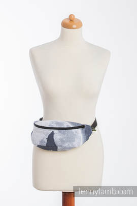 Waist Bag made of woven fabric, (100% cotton) - MOONLIGHT WOLF