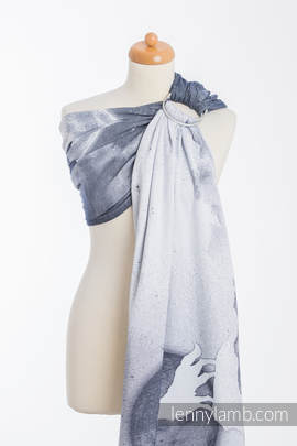 Ringsling, Jacquard Weave (100% cotton) - MOONLIGHT WOLF