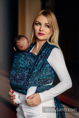 Baby Wrap, Jacquard Weave (100% cotton) - COLORS OF NIGHT - size XS
