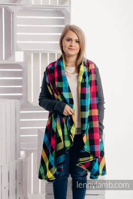 Long Cardigan - size L/XL - Diamond Plaid