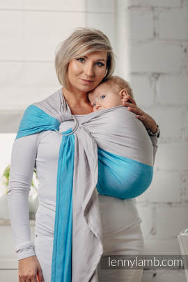 Basic Line Ring Sling - LARIMAR - 100% Cotton - Broken Twill Weave -  with gathered shoulder (grade B)