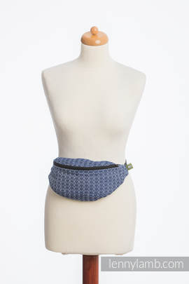 Waist Bag made of woven fabric, (60% cotton, 40% bamboo) - LITTLE LOVE - AQUA