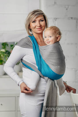 Basic Line Baby Sling - SODALITE, Broken Twill Weave, 100% cotton, size M
