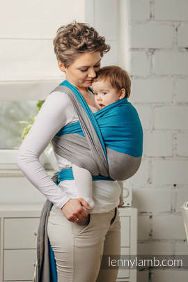Basic Line Baby Sling - SODALITE, Broken Twill Weave, 100% cotton, size S (grade B)