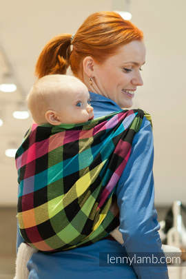 Baby Sling, Diamond Weave, 100% cotton - DIAMOND PLAID - size XS