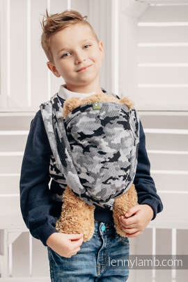Doll Sling, Jacquard Weave, 100% cotton - GREY CAMO