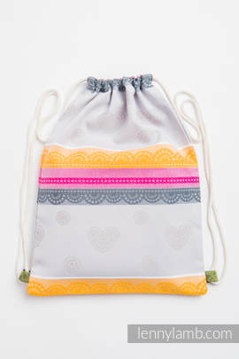 Sackpack made of wrap fabric (60% cotton, 40% bamboo) - VANILLA LACE 2.0 - standard size 32cmx43cm