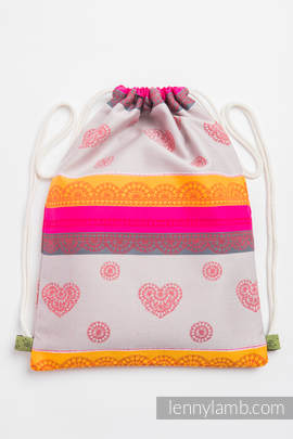 Sackpack made of wrap fabric (100% cotton) - CHERRY LACE 2.0 - standard size 35cmx45cm