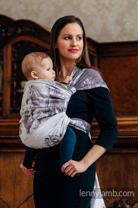 Baby Wrap, Jacquard Weave (100% cotton) - GALLOP - size M