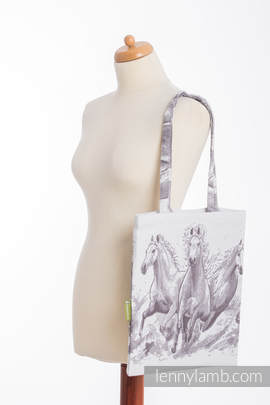 Shopping bag made of wrap fabric (100% cotton) - GALLOP (grade B)