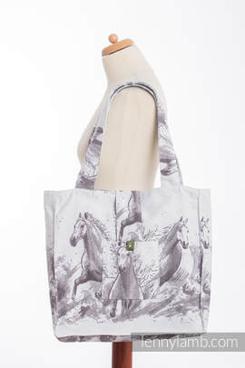 Shoulder bag made of wrap fabric (100% cotton) - GALLOP - standard size 37cmx37cm (grade B)