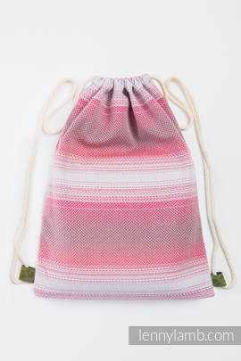Sackpack made of wrap fabric (100% cotton) - LITTLE HERRINGBONE ELEGANCE - standard size 35cmx45cm
