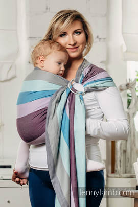 Ringsling, Diamond Weave (100% cotton) with gathered shoulder- ICELANDIC DIAMOND (grade B)