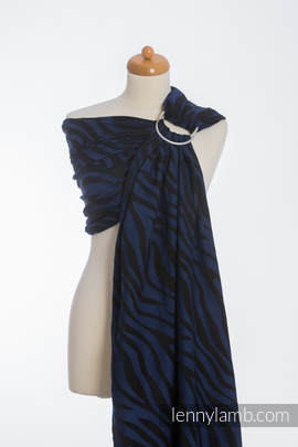 Ringsling, Jacquard Weave (100% cotton) - ZEBRA BLACK & NAVY BLUE