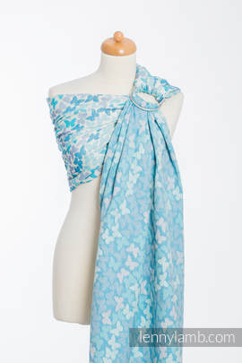 Ringsling, Jacquard Weave (100% cotton) - BUTTERFLY WINGS BLUE