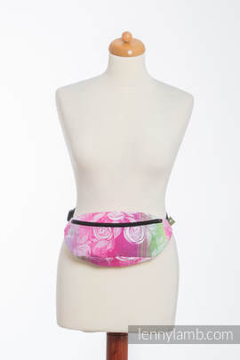 Waist Bag made of woven fabric, (100% cotton) - ROSE BLOSSOM