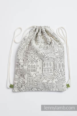 Sackpack made of wrap fabric (100% cotton) - PANORAMA  - standard size 32cmx43cm