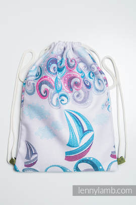 Sackpack made of wrap fabric (100% cotton) - HIGH TIDE - standard size 32cmx43cm