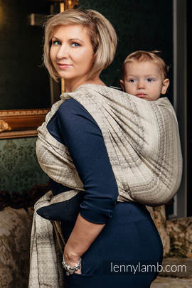 Baby Wrap, Jacquard Weave (100% cotton) - LITTLE LOVE - TIRAMISU - size S (grade B)