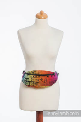 Waist Bag made of woven fabric, (100% cotton) - SYMPHONY RAINBOW DARK