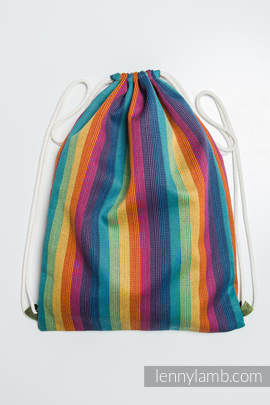 Sackpack made of wrap fabric (60% cotton 40% bamboo) - PARADISO - standard size 32cmx43cm