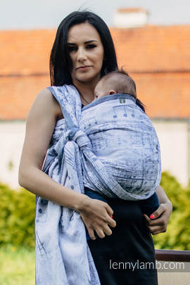 Baby Wrap, Jacquard Weave (60% cotton 28% linen 12% tussah silk) - ROYAL SYMPHONY - size XL