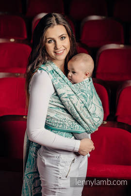 Baby Wrap, Jacquard Weave (100% cotton) - MERMAID POND 2.0 - size L