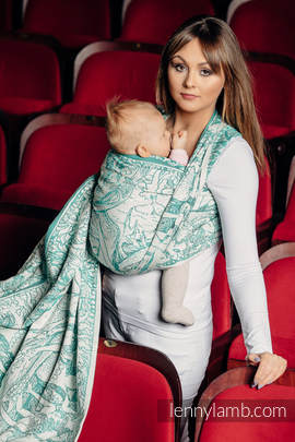Baby Wrap, Jacquard Weave (100% cotton) - MERMAID POND 2.0 - size XS