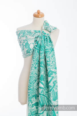 Ringsling, Jacquard Weave (100% cotton) MERMAID POND 2.0