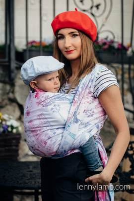 Baby Wrap, Jacquard Weave (100% cotton) - CITY OF LOVE - size XL