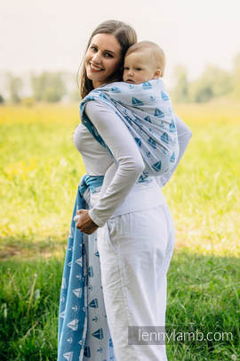 Baby Wrap, Jacquard Weave (100% cotton) - HOLIDAY CRUISE - size S (grade B)