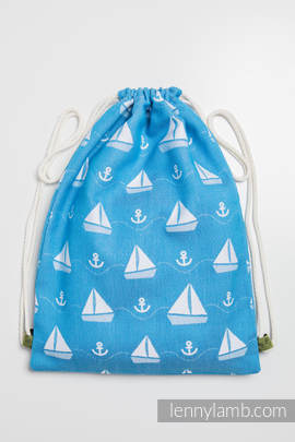 Sackpack made of wrap fabric (100% cotton) - HOLIDAY CRUISE - standard size 32cmx43cm (grade B)