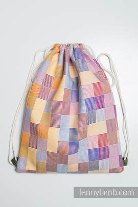 Sackpack made of wrap fabric (100% cotton) - QUARTET - standard size 32cmx43cm