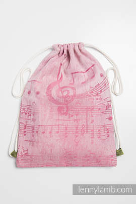 Sackpack made of wrap fabric (60% cotton 40% linen) - ENCHANTED SYMPHONY - standard size 32cmx43cm