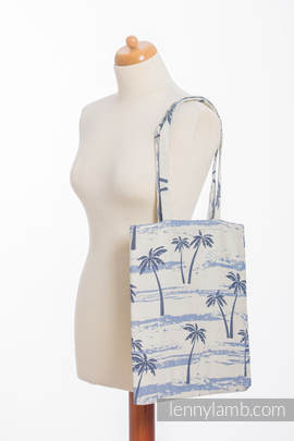 Shopping bag made of wrap fabric (100% cotton) - PARADISE ISLAND