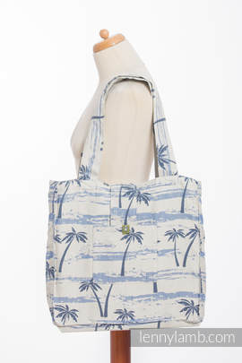 Shoulder bag made of wrap fabric (100% cotton) - PARADISE ISLAND - standard size 37cmx37cm (grade B)