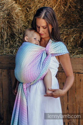 Baby Wrap, Jacquard Weave (80% cotton, 20% bamboo) - LITTLE LOVE - SCENT OF SUMMER - size XS (grade B)