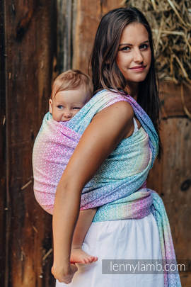 Baby Wrap, Jacquard Weave (80% cotton, 20% bamboo) - LITTLE LOVE - SCENT OF SUMMER - size S