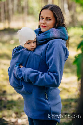 Fleece Babywearing Sweatshirt 2.0 - size M - blue with Little Herringbone Illusion (grade B)