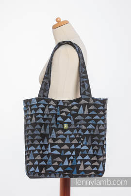 Shoulder bag made of wrap fabric (100% cotton) - EAGLES' STONES - standard size 37cmx37cm