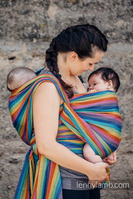 Baby Sling, Broken Twill Weave (bamboo + cotton) - Paradiso - size XS