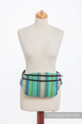 Waist Bag made of woven fabric, size large (100% cotton) - LITTLE HERRINGBONE AMAZONIA