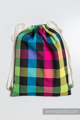 Sackpack made of wrap fabric (100% cotton) - DIAMOND PLAID- standard size 32cmx43cm