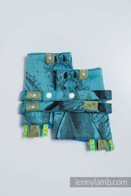 Drool Pads & Reach Straps Set, (100% cotton) - GALLOP BLACK & TURQUOISE