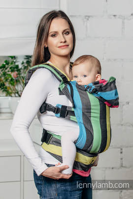 Ergonomic Carrier, Baby Size, broken-twill weave 60% cotton 40% bamboo- wrap conversion from TWILIGHT - Second Generation(grade B)