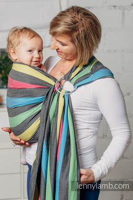 Ring Sling - 100% Cotton - Broken Twill Weave - with gathered shoulder - Night